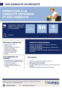 Programme de formation conduite défensive et eco conduite